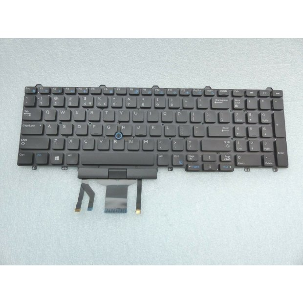 Tastatur Dell US QWERTY Latitude E5550 E5570,  mit Backlight
