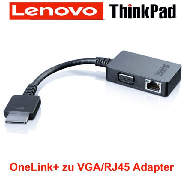ThinkPad OneLink  VGA RJ45 Adapter 4X90J31060 X1 Carbon 20FB, 20FC Yoga 260