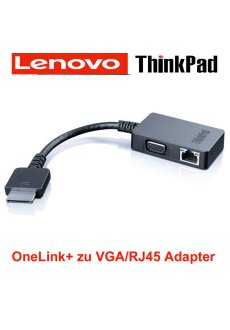 ThinkPad OneLink  VGA RJ45 Adapter 4X90J31060 X1 Carbon...